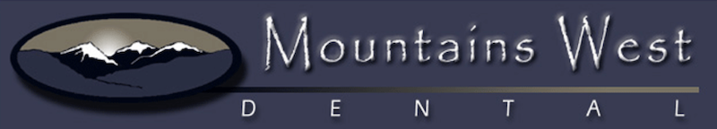 Mountains West Dental Logo - mountains with text